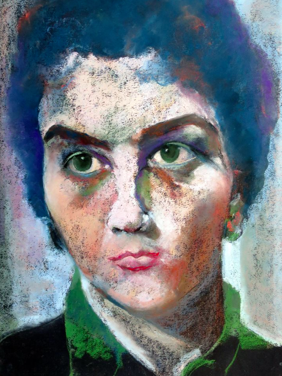 "May's Fabulous Pastels: Rosemay Dahan, ""Simone My Mother,"" pastel, 65 x 50 cm (25 1/2 x 19 3/4 in)"