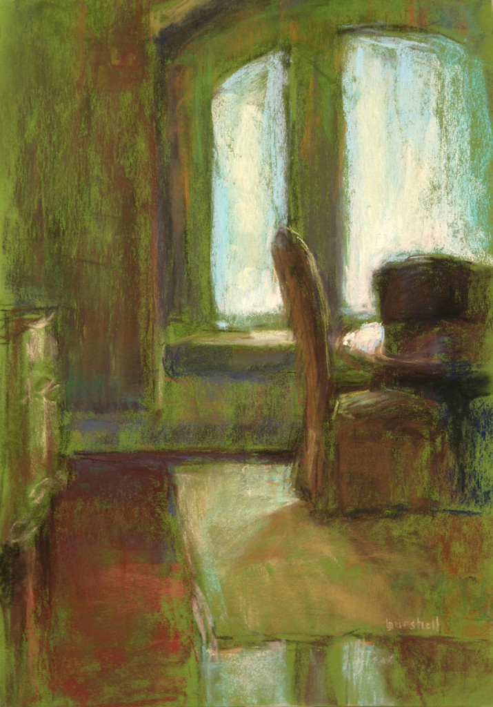 "IAPS Interviews: Sandra Burshell, ""Bathed In Light,"" pastel, 11x 8 in"