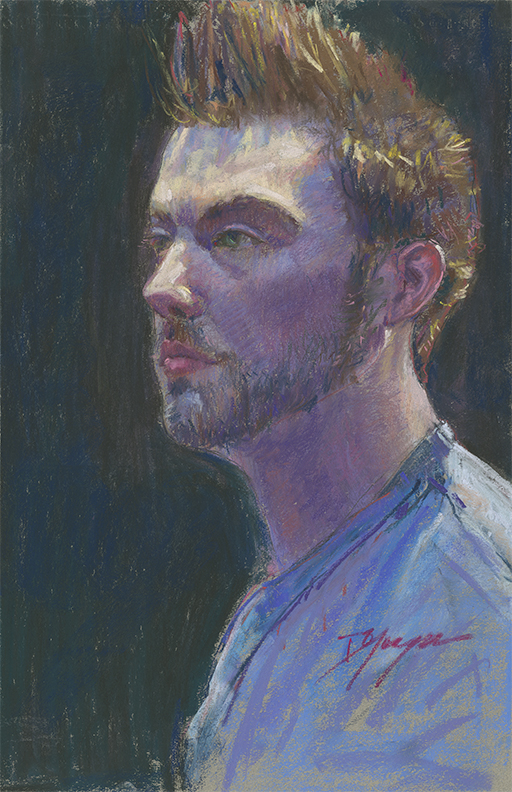 "Donna Yaeger, ""Ryan,"" pastel on Canson Mi-Tientes paper, 17 x 12 in -  An example of Donna's that I was familiar with prior to meeting her"