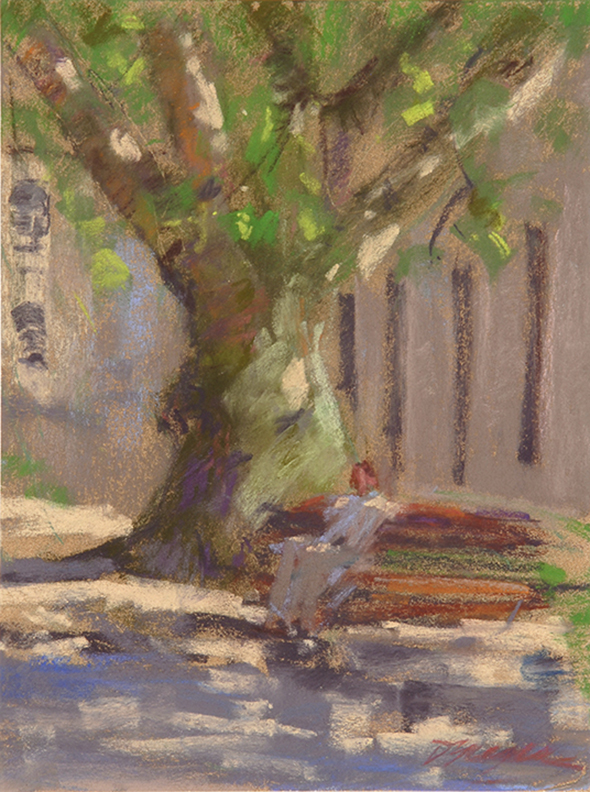"Donna Yeager, ""Oporto,"" plein air pastel on La Carte paper, 9.5 x 7.5 in"