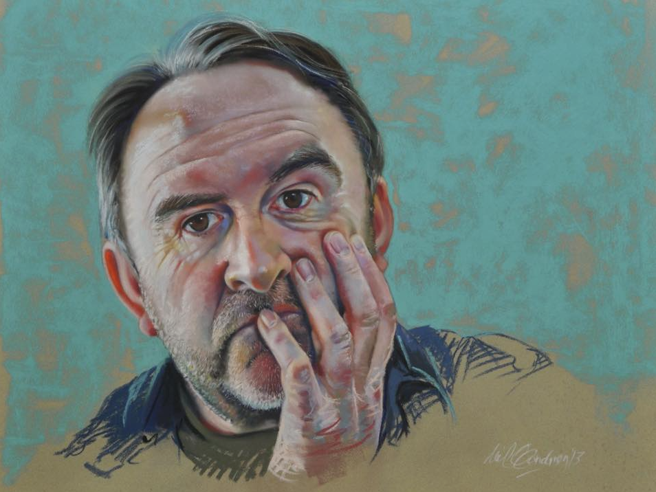 "June's Remarkable Pastels: Neil Condron, ""Self Portrait,"" pastel, 19 3/4 x 22 in (50 x 56 cm)"
