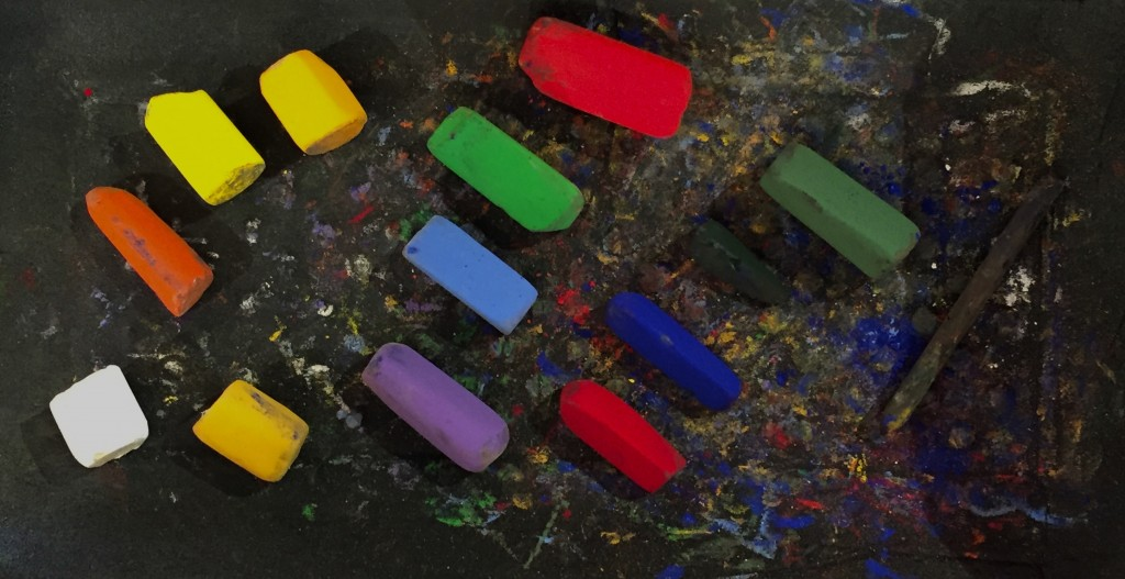 And here are the thirteen Schminke pastels (and vine charcoal) I used