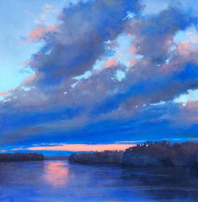 "pastel picks: Michele Wells, ""Magic Hour,"" pastel, 12 x 12 in"