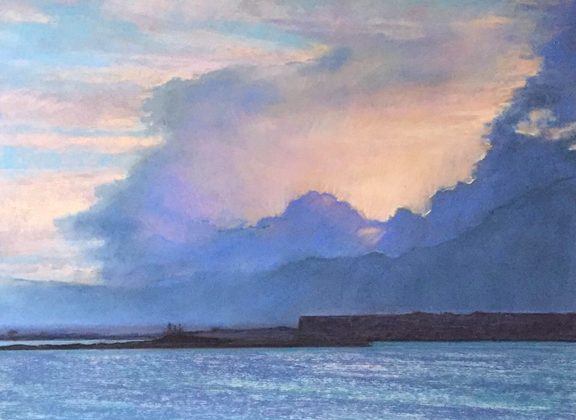 "pastel picks: Suzanne M. Payne, ""Sun Setting,"" pastel, 12 x 16 in"