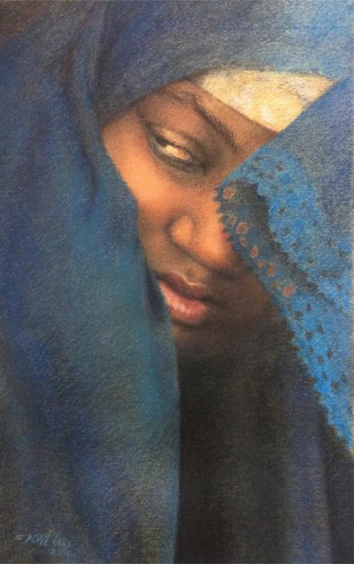 "pastel picks: Sylvia Laks, ""Marriage Arranged,"" pastel on Canson, 15 3/4 x 9 7/16 in  (40 x 24 cm)"