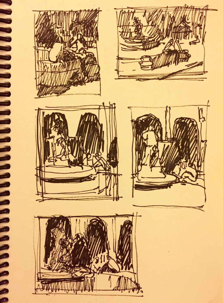 1. I had taken a few photos of the fountain at Vigado Square in Budapest. Two girls were enjoying the day and having a chat. In these thumbnails, I was working out what composition to choose - looking at all my options.