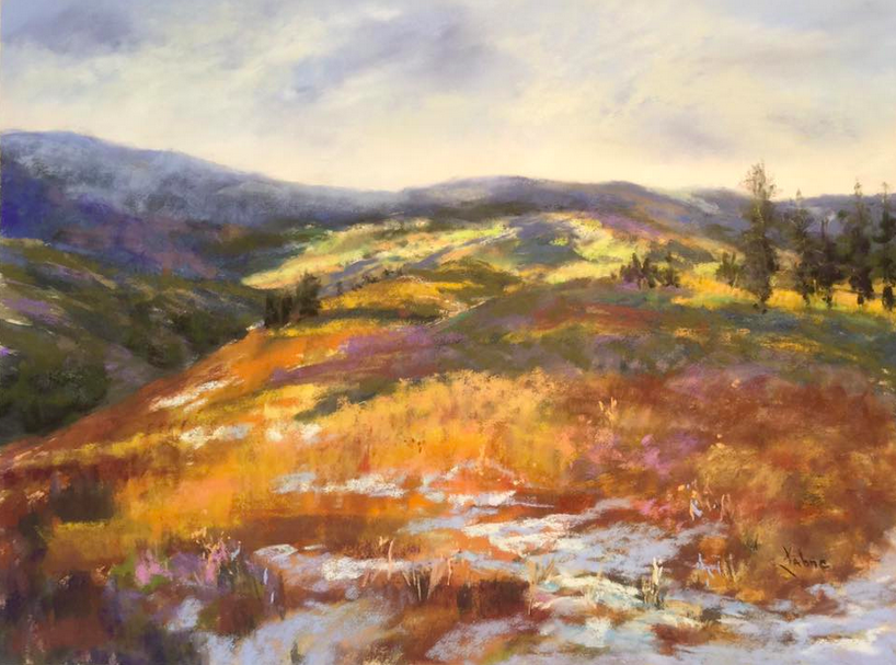 """August's Awesome Pastels: Kahne Smith, """"Last Snow, Beartooth Mountains,"""" pastel on UArt 400, 12 x 16 in"""