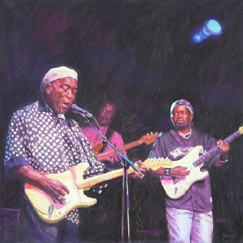 """Daggi Wallace, """"Passing The Torch,"""" 2008, pastel, 33 x 33 in"""