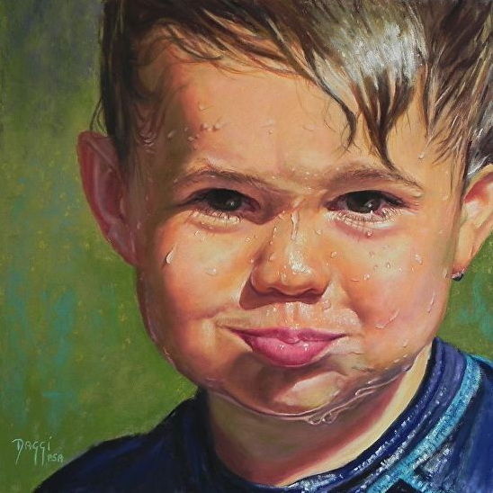 "Daggi Wallace, ""Elliott,"" pastel, 12 x 12 in"