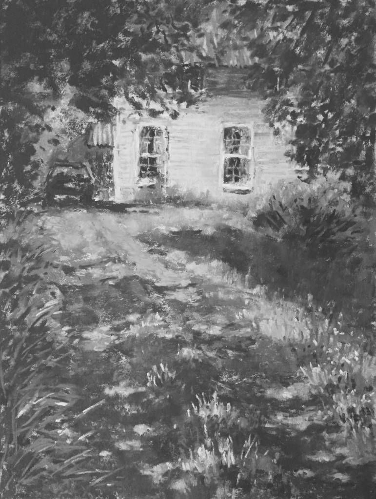 "En Plein Air: Gail Sibley,"" The Old Creamery,"" Schminke pastels on Wallis paper, 12 x 9 in"