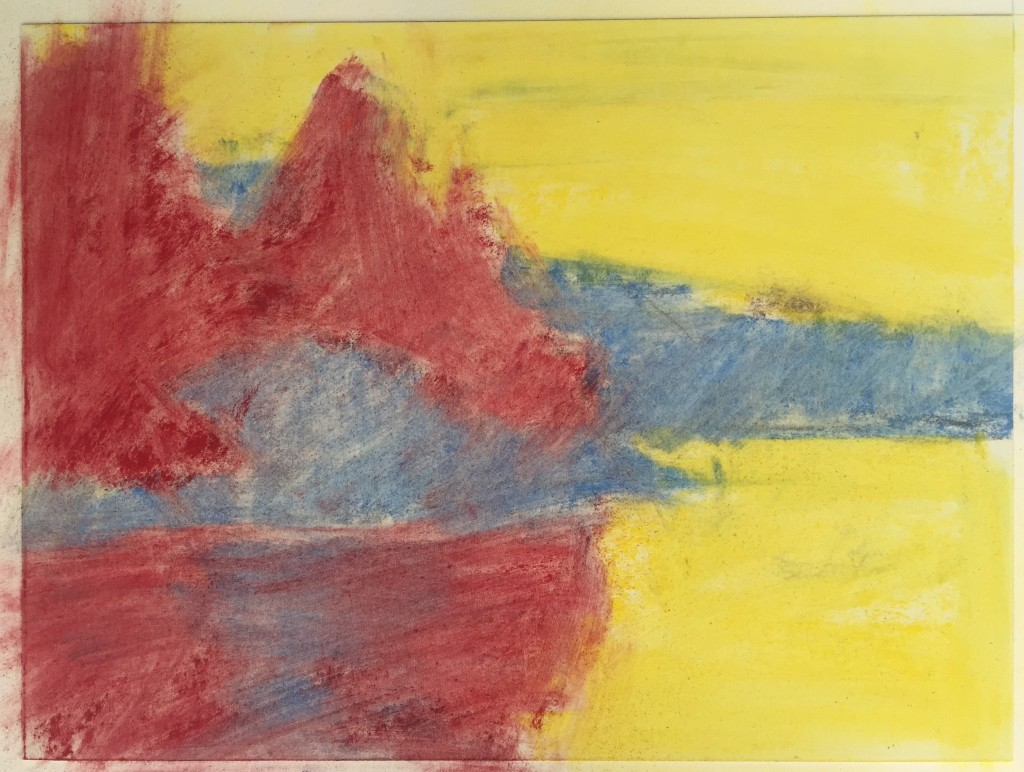 Pastel Finished?: I took a piece of paper towel and gently rubbed the pastel to create an underpainting