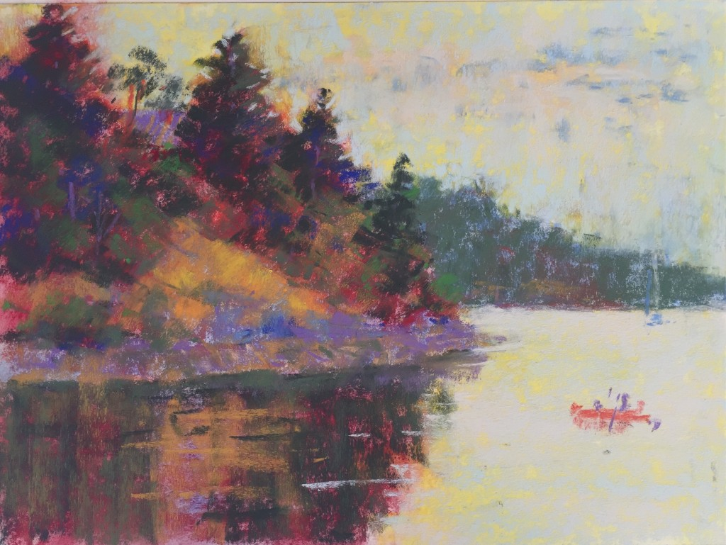 """pastel finished? : Gail Sibley, """"OverCast Day At The Beach,"""" pastel on Wallis paper, 9 x 12 in"""