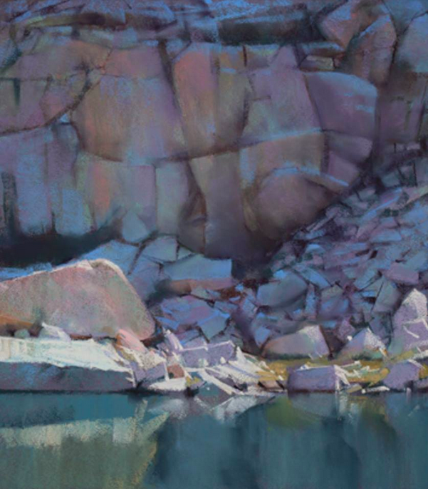 "January's Phenomenal Pastels: Bill Cone, ""The Edge of Moonlight,"" pastel on Canson paper, 14 x 11 in"