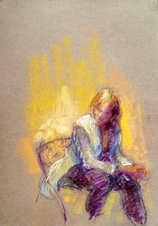 "January's Phenomenal Pastels: Sandra Burshell, ""Heidi,"" (life drawing) pastel, size unknown"