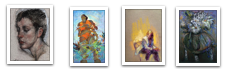 January's Phenomenal Pastels:  four paintings seen in thumbnail