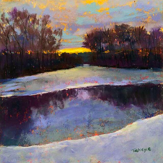 "January's Phenomenal Pastels: Takeyce Walter, ""Retreat,"" Nupastels and Unison on UArt 600, 6 x 6 in"