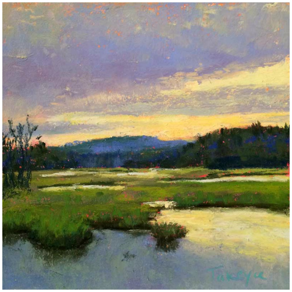 """30 Paintings in 30 Days: Takeyce Walter, """"Adirondack Marsh,"""" pastel, 6 x 6 in. Day 30"""
