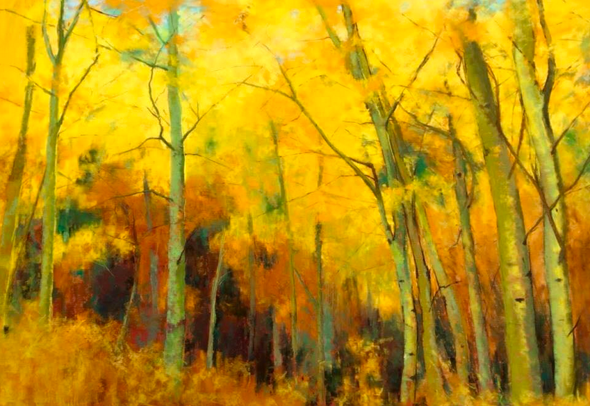 "Pastel Marvels: Maureen Spinale, ""Autumn Symphony,"" pastel on UArt paper, 24 x 36 in"