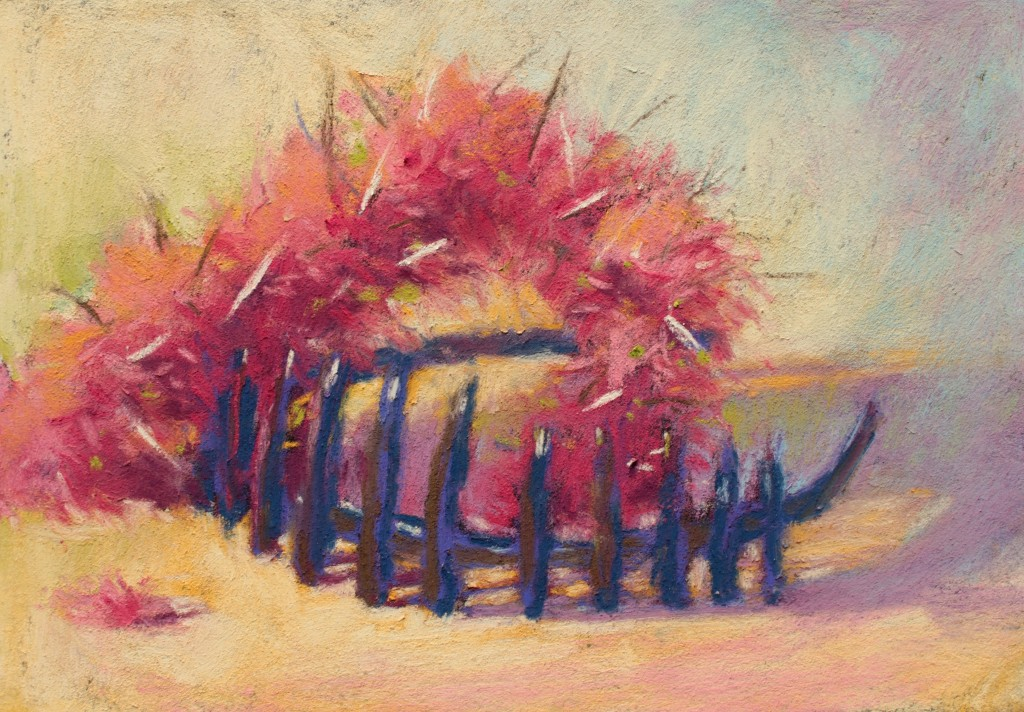 """Pastels on black aper: Gail Sibley, """"Untitled [at this point], Mount Vision pastels on Sansfix pastel card, 5 1/2 x 7 3/4 in"""