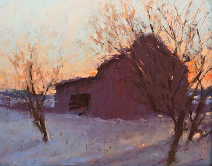 "April's Astounding Pastels: Carol Strock Wasson, ""Beginning of a Sunrise,"" pastel, 16 x 20 in"