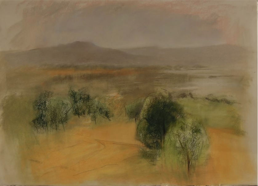 "April's Astounding Pastels: Silvia Bar-am, ""Gilboa Mountains,"" pastel on Arches paper, 22 x 27 1/2 (56 x 70 cm)"