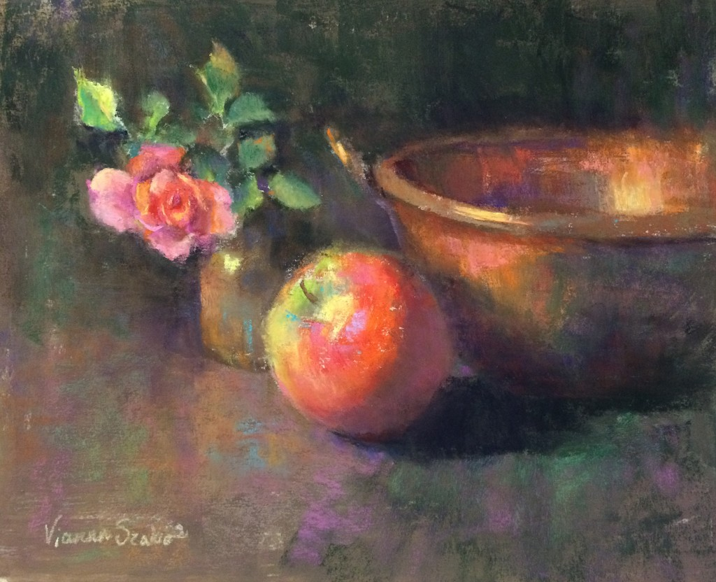 "Vianna Szabo, ""Curious Rose,"" pastel, 8 x 10in"