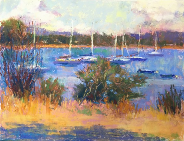 "Pastelling Outdoors: 10. Gail Sibley, ""Summer's Here,"" Sennelier pastels on Wallis paper, 9 x 12 in, available"