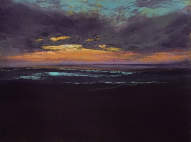 "Anna Wainright, ""Night Comes,"" 2015, pastel, 9 x 12 in, Private Collection"