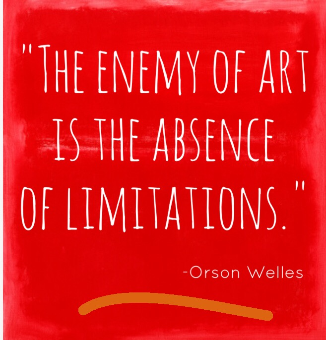 """31 paintings in 31 days: """"The enemy of art is the absence of limitations."""" Orson Welles"""