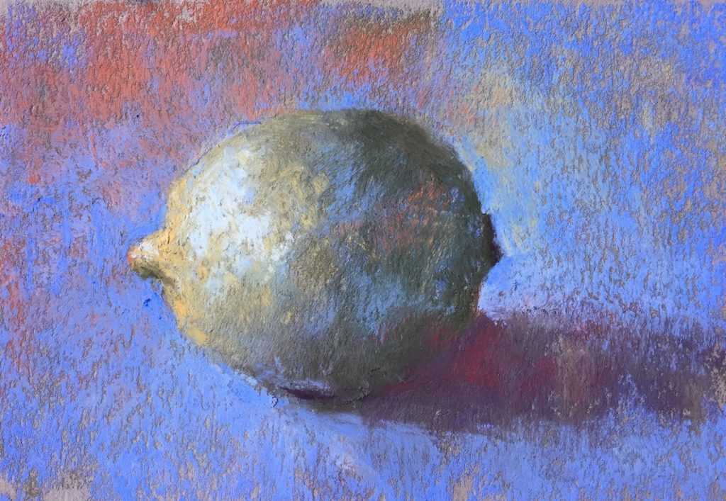 Gail Sibley, Lime, Terry Ludwig pastels on Pastel Premier (Day 20).