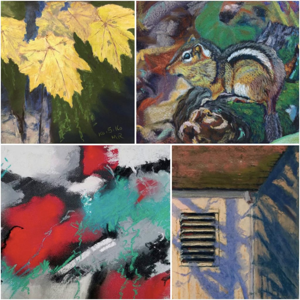 31 in 31: Clockwise from left are paintings (cropped) by: Mary Reppe, Debbie Gauger, Sally Ayres, Cindy Haase