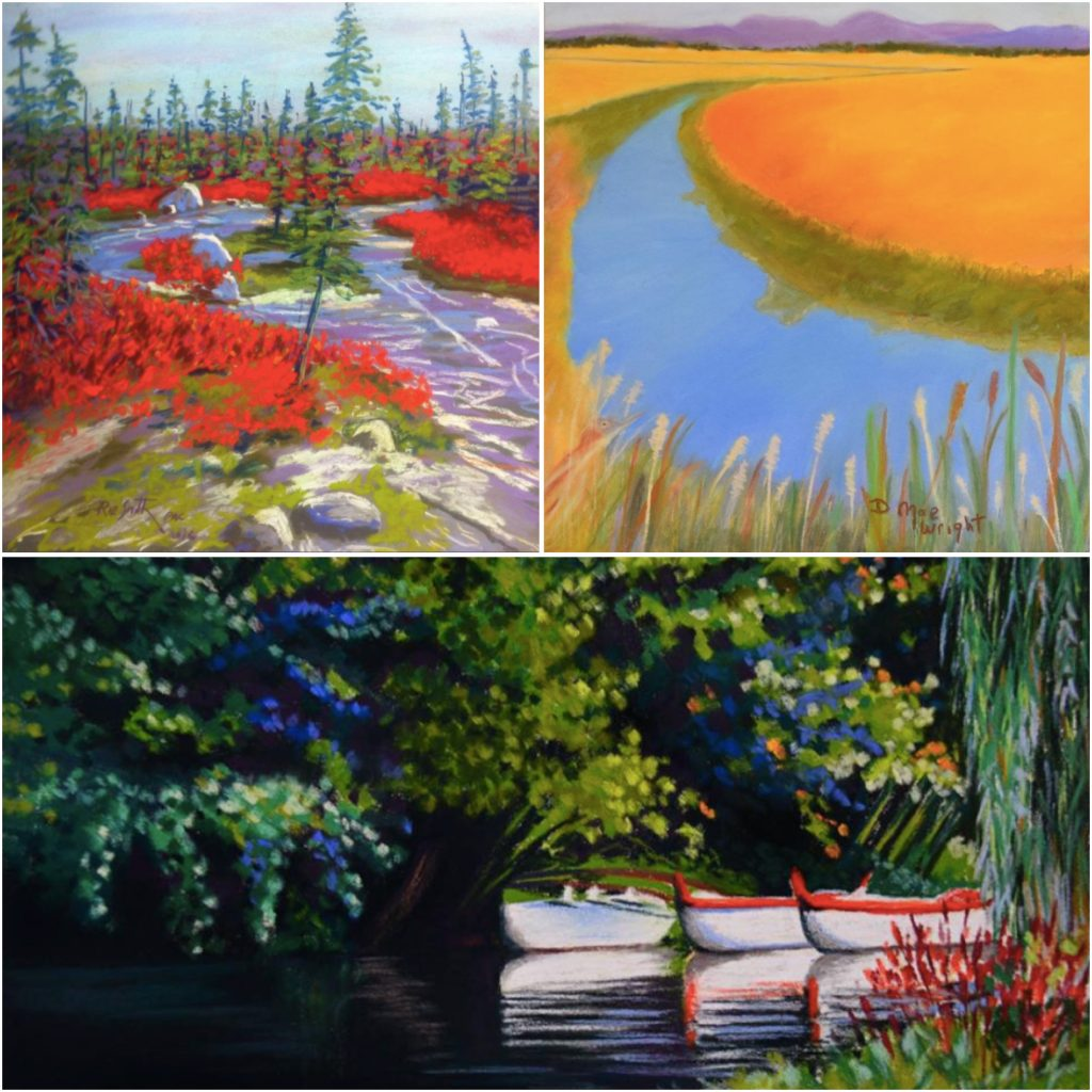 31 in 31: Clockwise from left are paintings (cropped) by: Rae Smith, DMae Wright, Lynn Howarth