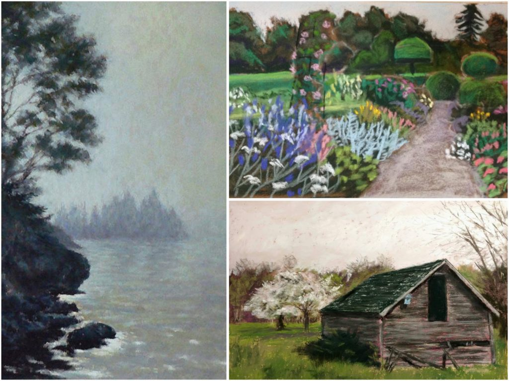 31 in 31: Clockwise from top left are paintings by: Gill Truslow, Floribunda Rose, Jymme Golden