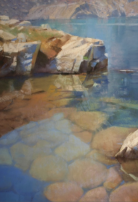 "October's Superb Pastels: Bill Cone, ""Iceberg Shore,"" pastel on paper, 20 x 14 in"