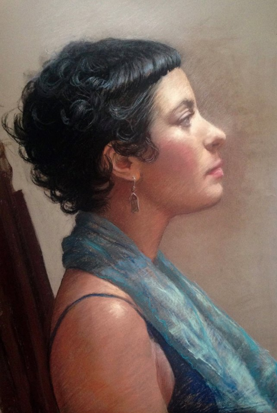 October's Superb Pastels: Carol Peebles, 'Demo from Life,' pastel on Colourfix paper, 22 x 17 in