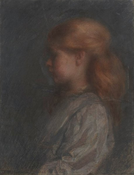 """Florence Rodway, """"A Child,"""" 1910, pastel on paper, 55.6 x 42.5 cm, Art Gallery of New South Wales, Sydney, Australia"""