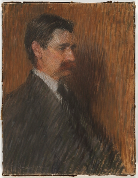 """Florence Aline Rodway, """"Henry Lawson,"""" 1914, pastel on paper, no size given, State Library of New South Wales, Sydney, Australia"""