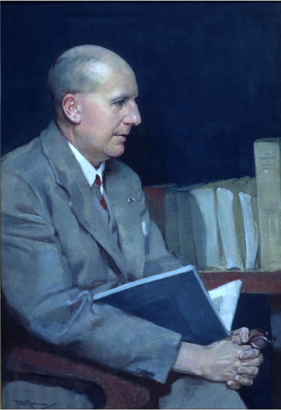 """Florence Rodway, """"William E.L.H. Crowther,"""" n.d. (framed in 1940) pastel on paper, 47 x 32 cm, WL Crowther Library, State Library of Tasmania, Hobart, Tasmania"""