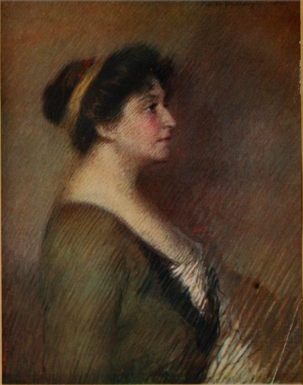 """Florence Rodway, """"Madame Melba,"""" as seen as Frontispiece to 'Melba's Gift Book on Australian Art and Literature,' published 1915"""