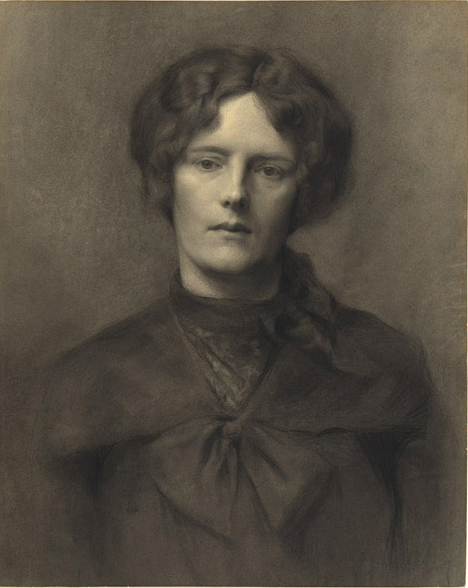 """Florence Rodway, """"Portrait of a Woman,"""" ca. 1907-10, charcoal and pastel on cardboard, 58.2 x 46.4 cm, National Gallery of Australia, Canberra"""