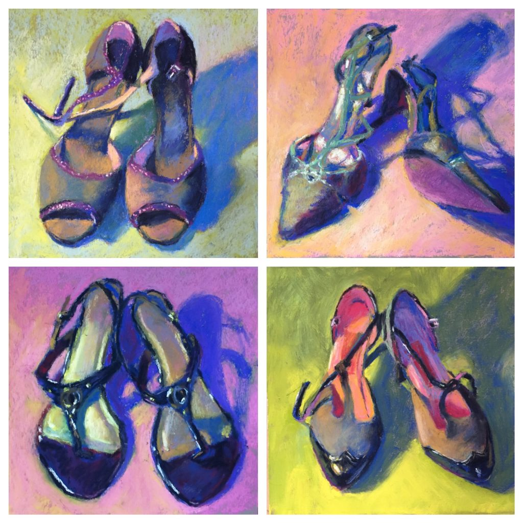 A few of the shoe series I worked on during the 31 in 31 challenge