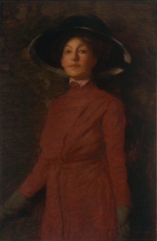 """Norman Carter, """"Florence Rodway,"""" 1913, oil on canvas, 36 1/8 x 24 in, State Library New South Wales, Sydney, Australia"""
