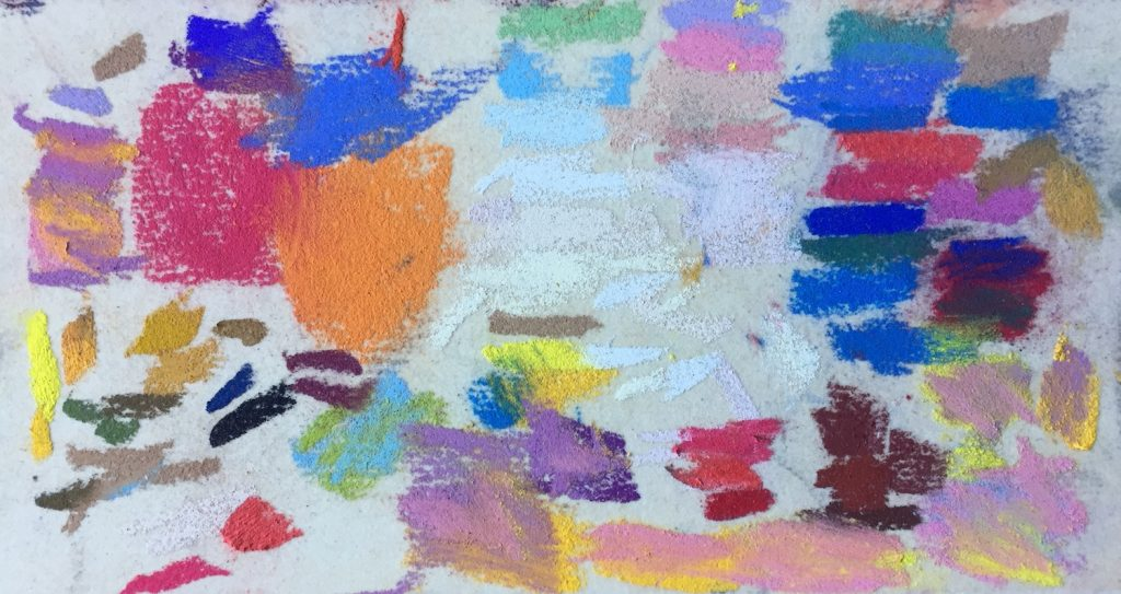 No Time to Paint? The scrap of UArt paper that I had previously tested colours on