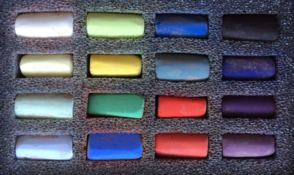 No Time to Paint? The Unison 16 half-stick starter set from which I chose my pastels