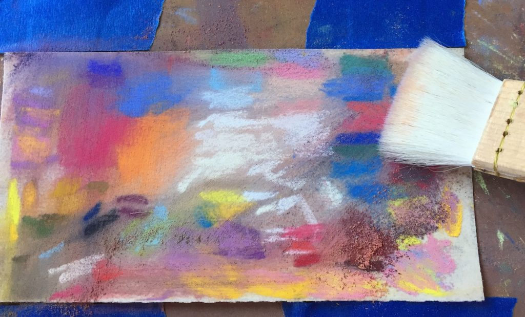No Time to Paint? I decided to gently brush the pastel that was on the paper rather than leave them as harsh individual lines.
