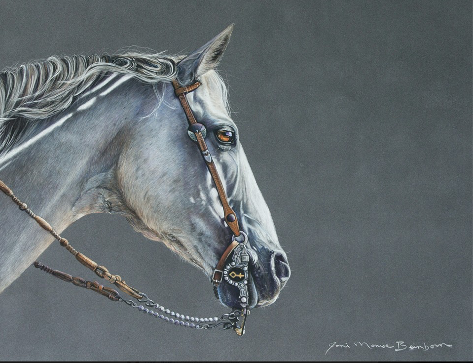 "November's Terrific Pastels: Joni Beinborn, ""Going Gray,"" pastel, 19 x 25 in"