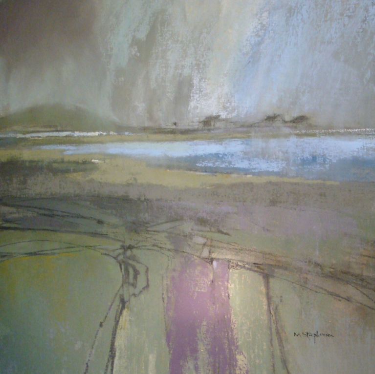 "November's Terrific Pastels: Norma Stephenson, ""Sound of Harris,"" pastel, 30 3/4 x 30 3/4 in (78 x 78 cm)"