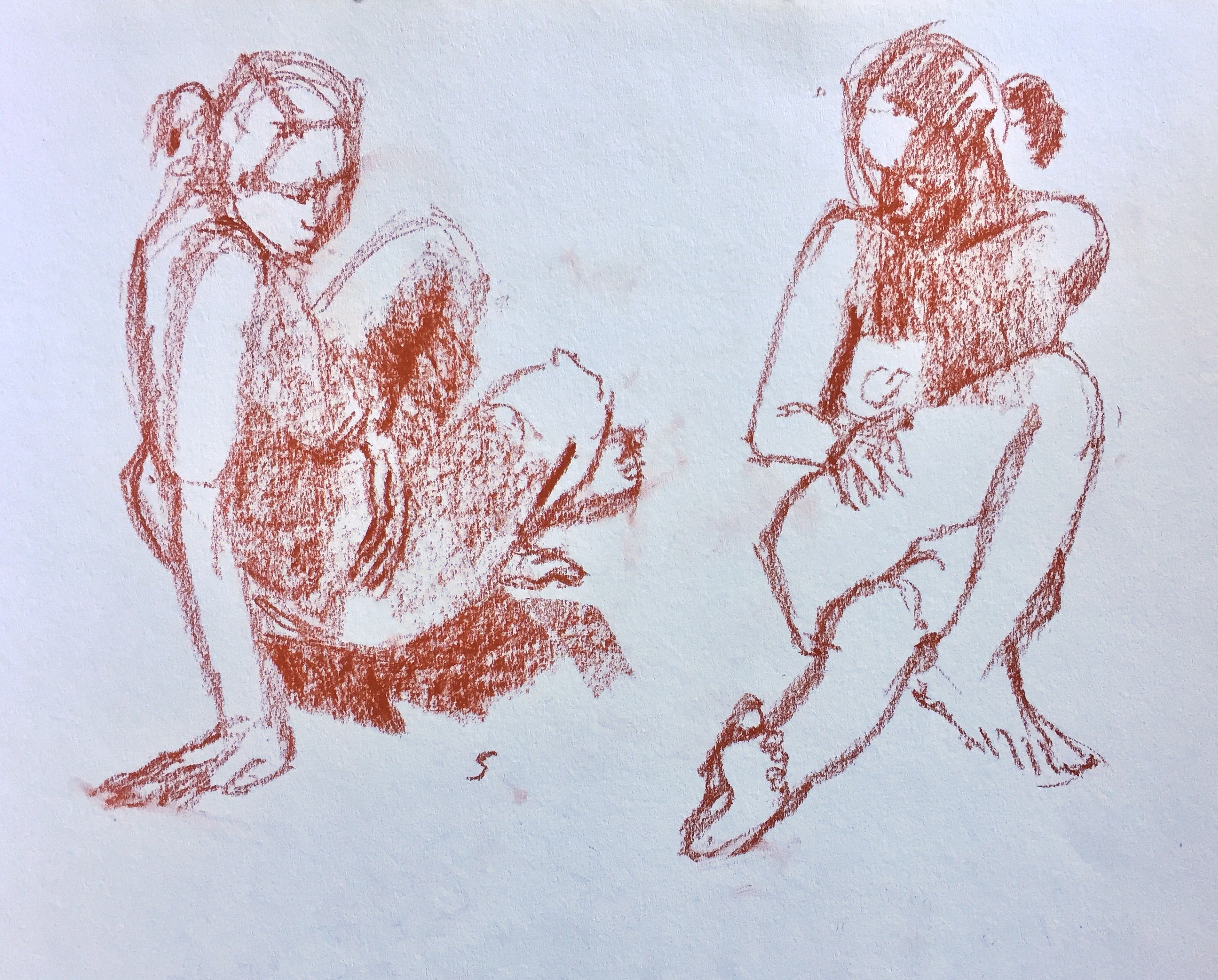 Life drawing: Five-minute poses