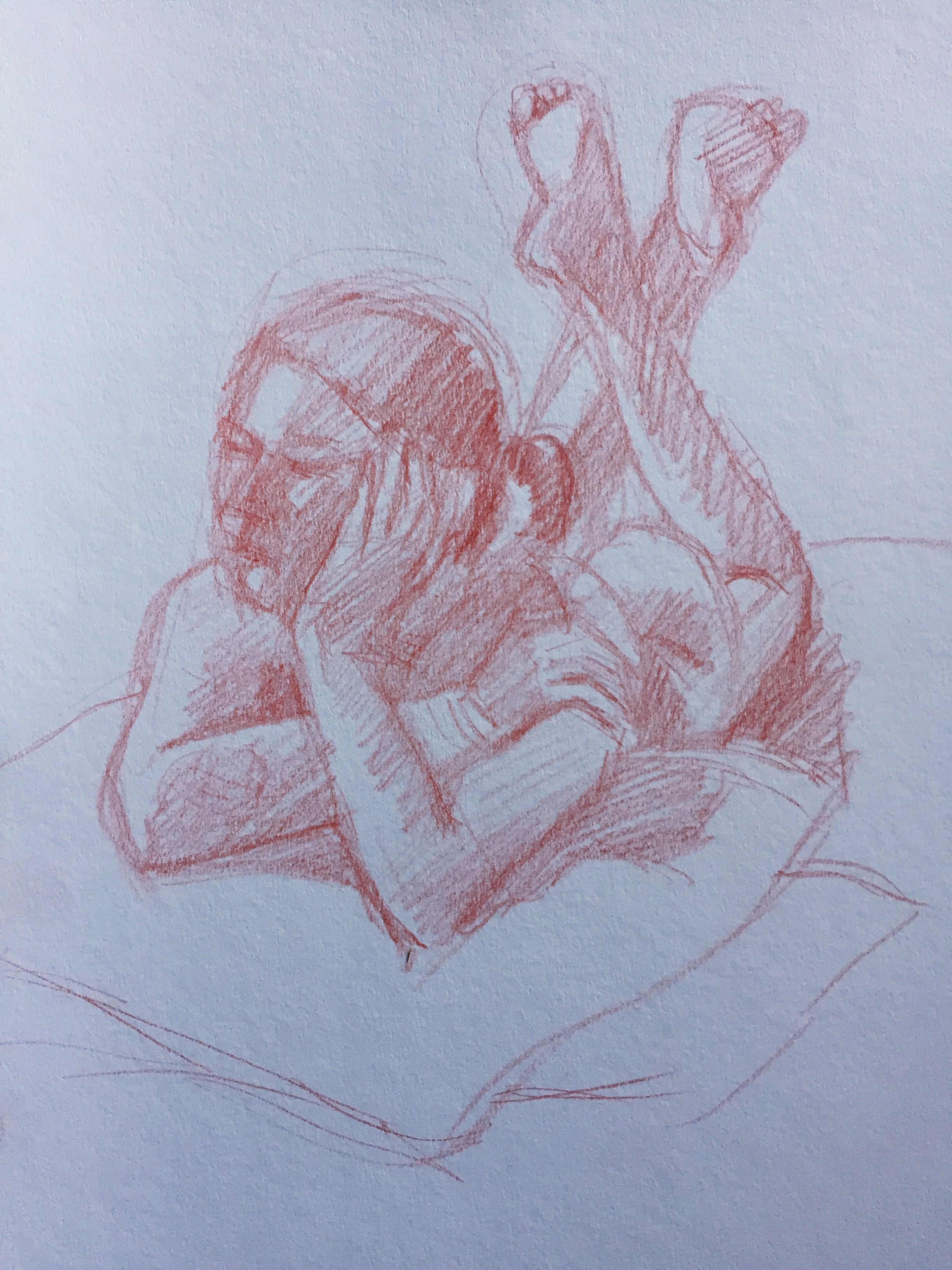 Life drawing: 18-minute pose