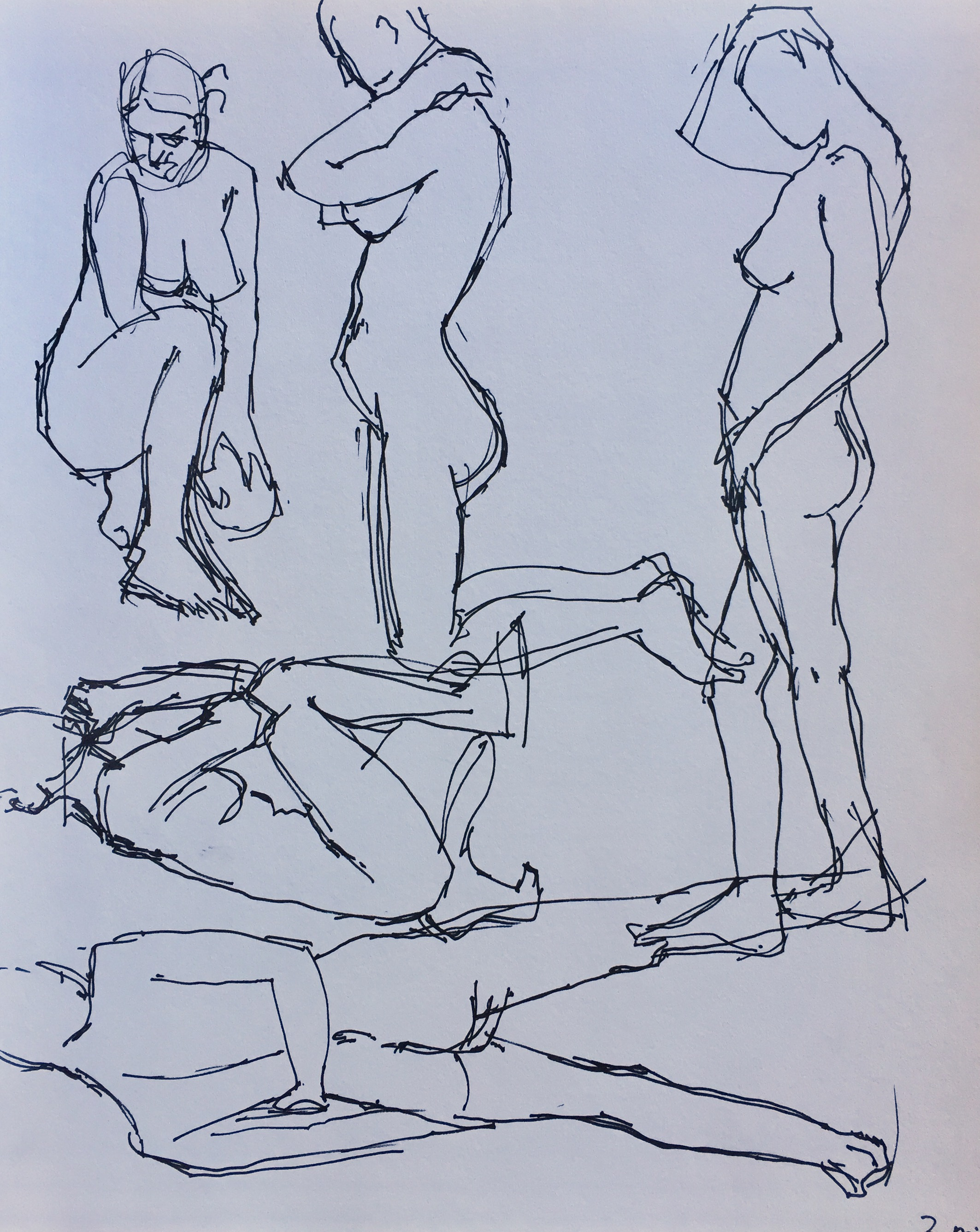 Life drawing: Two-minute poses